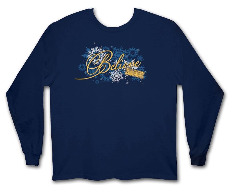 """Polar Express Girls """"Believe"""" Long Sleeve Shirt,129493-LG"""