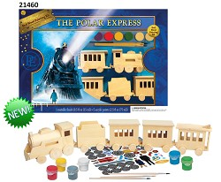 Polar Express Wood Train Painting Set