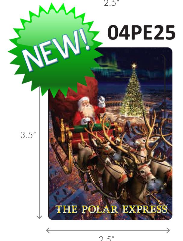 Polar Express Santa's Sleigh Magnet,04PE25