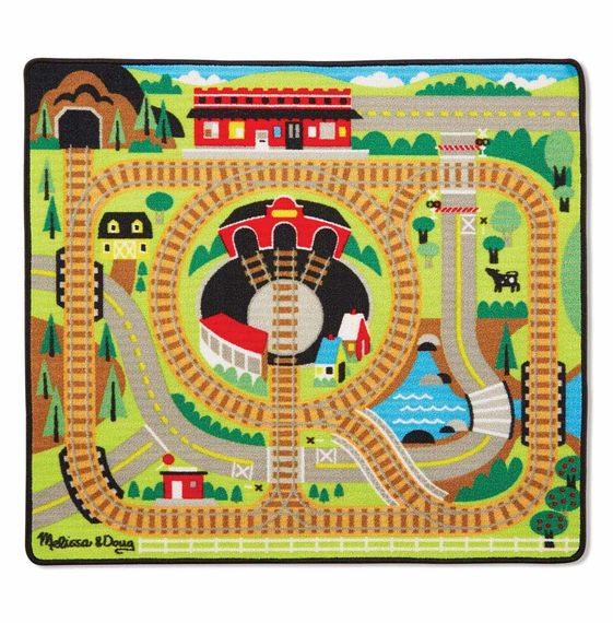 Round the the Rails Train Rug,9554