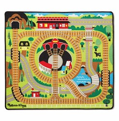 Round the the Rails Train Rug