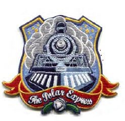 Embroidered Iron/Swe on Polar Express Badge,P4100
