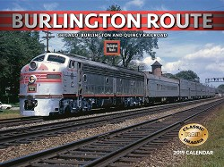 2019 Calendar - Burlington Route,BURLINGTON ROUTE