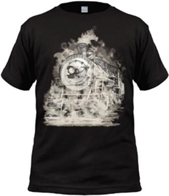 Ghostly Steam Engine Youth Shirt,1KW-GSEL