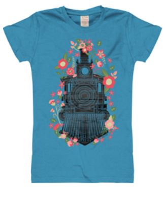 Flower Train Youth Shirt,1KW-KRS