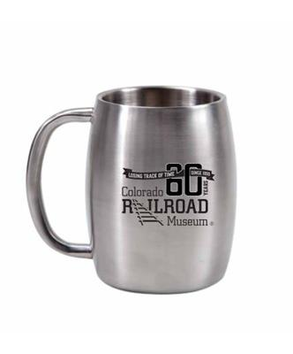60th Stainless Steel Silver Mug