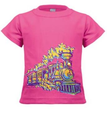 Painted Train Toddler Shirt,1KW-PST3T